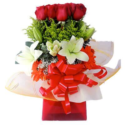 Amr073 Arreglo Floral Para Decir Te Amo