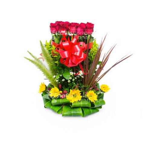 Amr088 Arreglo Floral De Amor