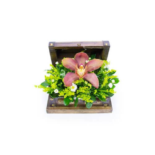 Orq087 Arreglo Floral De Orquídeas