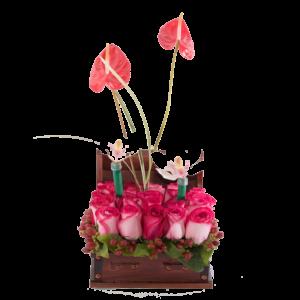 ORQ024 – Arreglo floral de orquídeas