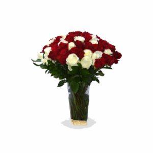 AMR0139 – Arreglo con rosas de exportación